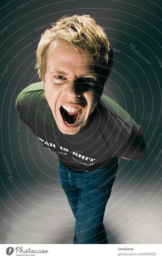 DJ scream Diskjockey Club T-Shirt Kunst Kunsthandwerk Ferry Corsten Man Jeanshose electronic music