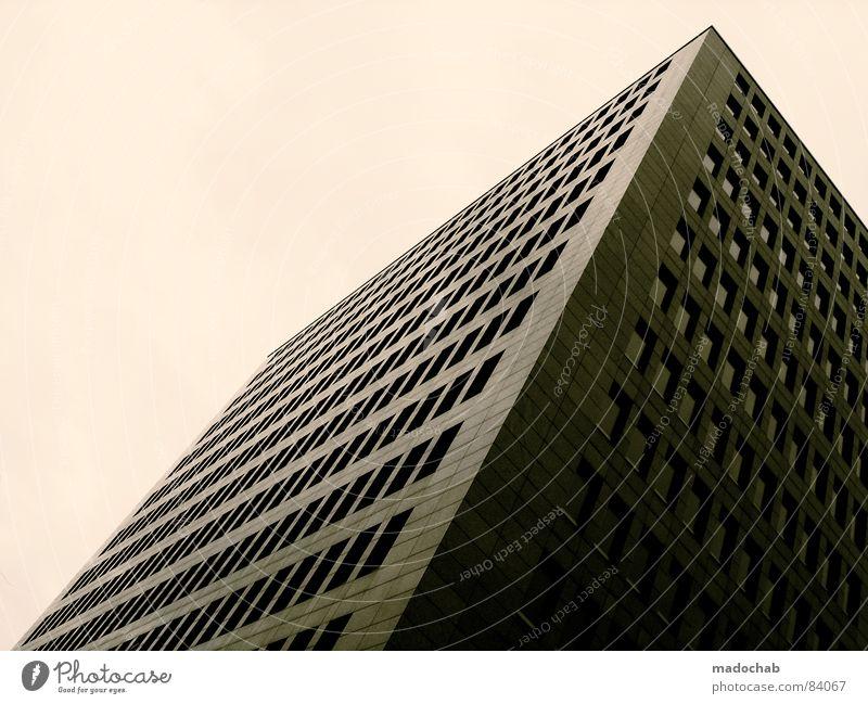 MODERN ANONYMITY | THREE Haus Hochhaus Gebäude Material Gleichgültigkeit Fenster live Block Beton Etage trist dunkel Leidenschaft Spiegel Vermieter Mieter
