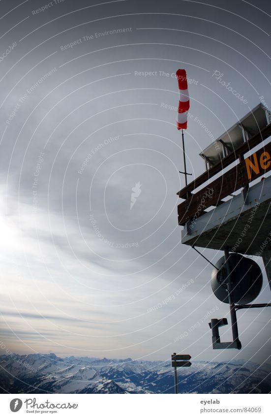 Hervorragend Parabolantenne Empfangsstation Nebelhorn (Berg) Jagertee Gebäude Tornado Satellit Antenne Schilder & Markierungen Reling Plattform Gipfel