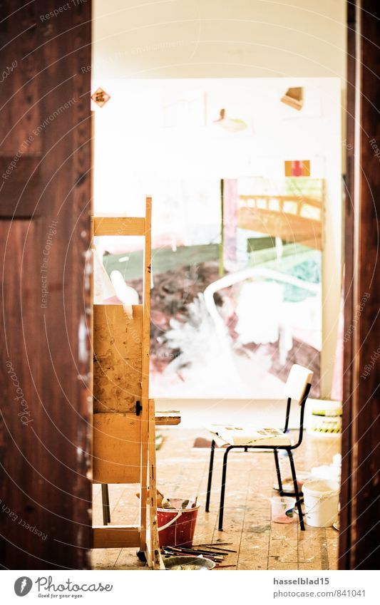 Atelier Erholung ruhig Freude Farbstoff Innenarchitektur Glück Kunst Schule Raum Lifestyle Häusliches Leben Tür Dekoration & Verzierung Studium lernen Pause