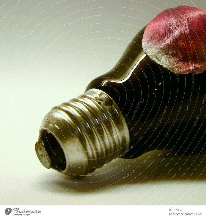 - birnenblüte - Dekoration & Verzierung Energiewirtschaft Technik & Technologie Energiekrise Kunst Kunstwerk Blüte Glas glänzend rot schwarz silber Glühbirne
