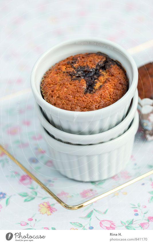 KirschMohn III hell genießen süß lecker Geschirr Backwaren Tischwäsche Teigwaren Muffin Blumenmuster Backform