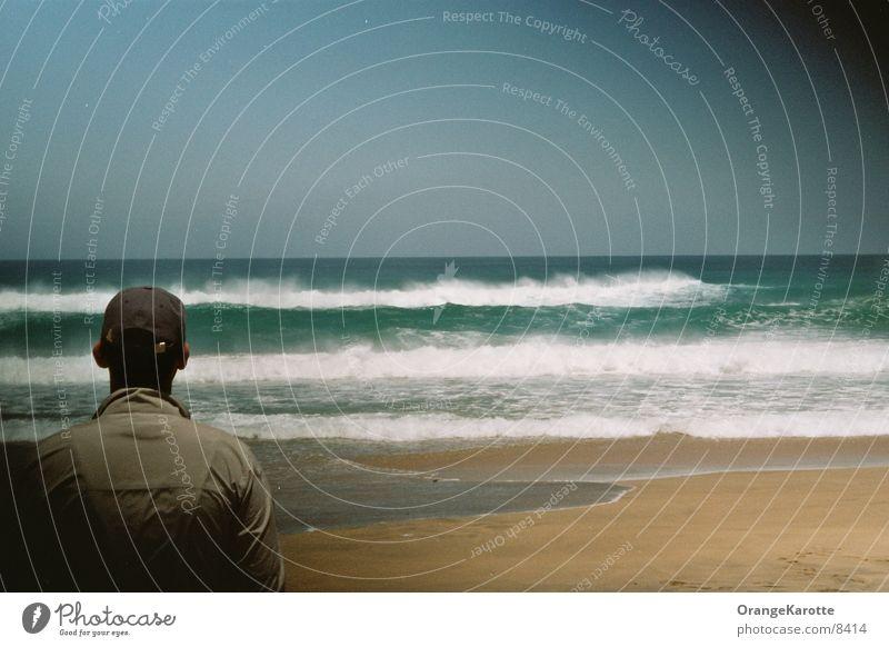 Wellenbrecher Himmel Sonne Meer Strand Ferien & Urlaub & Reisen Einsamkeit Ferne Sand
