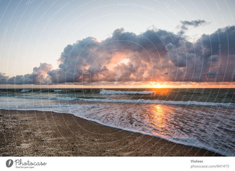 another perfect sunset Natur Ferien & Urlaub & Reisen Sommer Sonne Meer Erholung Landschaft Strand Ferne Küste Freiheit Wellen fantastisch Urelemente Abenteuer