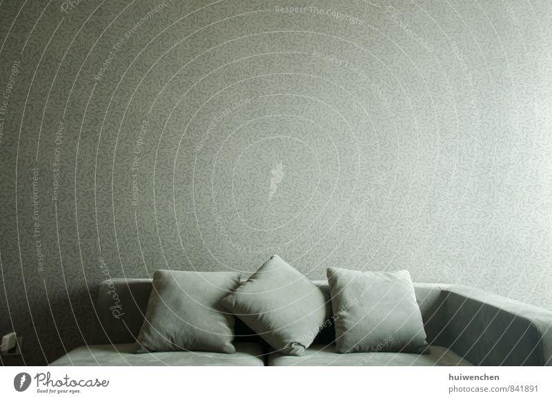 sofa Wohnung Innenarchitektur Möbel Sofa Wohnzimmer Kissen ruhig gemütlich grau wallpaper Farbfoto Innenaufnahme Menschenleer Tag