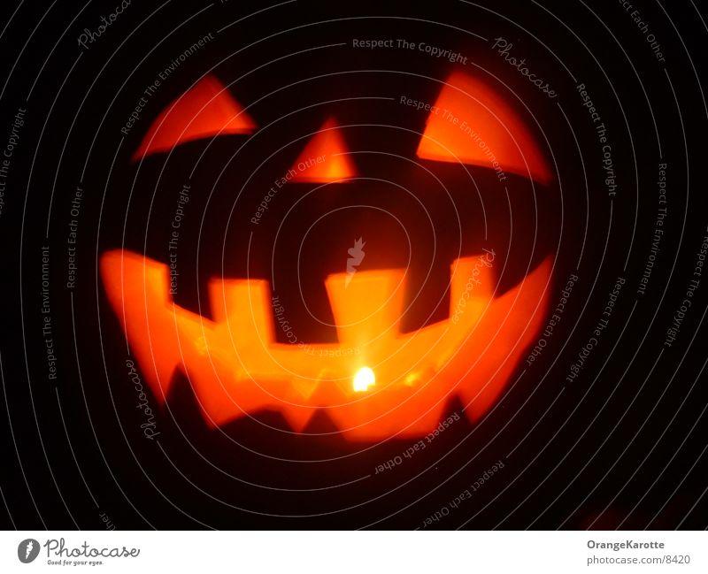 Halloween Kürbiskopf Licht Kerze Spuk Geister u. Gespenster gruselig gruseln