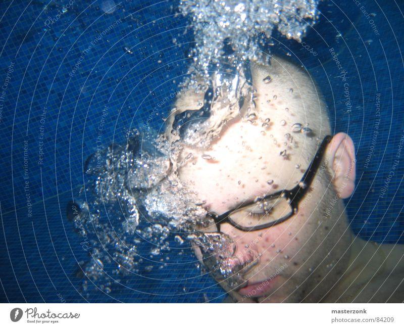 auf tauchstation ausstoßen Luftblase Brille Mosaik Wasserschwall atmen Wasserwirbel obskur gefährlich Unterwasseraufnahme wasser liebend unterwasser...