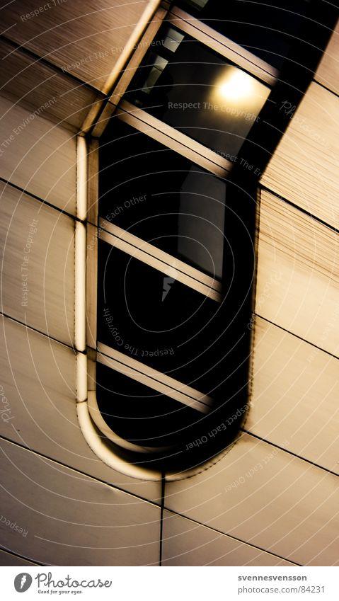 Scheibenzäpfchen Sonne gelb Fenster Gebäude Architektur Fassade Streifen Fensterscheibe Hecke Rahmen staunen Futurismus Silikat-Mineral