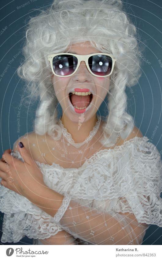 Der (letzte) Schrei Mensch Jugendliche schön weiß Junge Frau 18-30 Jahre Gesicht Erwachsene feminin Haare & Frisuren Feste & Feiern Kunst Kopf Mode Körper leuchten