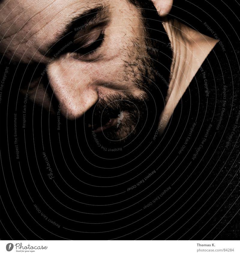 . Alpha Omega Porträt schwarz weiß Gefühle Mann element von Blick