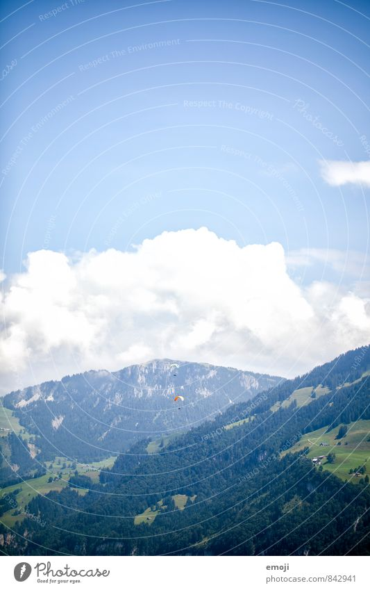 da hinten Himmel Natur blau Umwelt Berge u. Gebirge natürlich Freiheit Luft Schönes Wetter Alpen Gleitschirmfliegen
