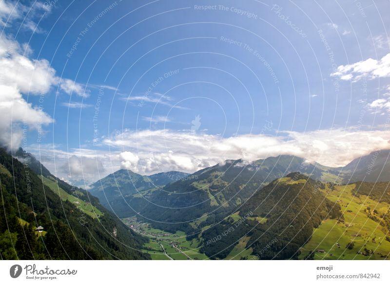 Suisse Umwelt Natur Landschaft Himmel Schönes Wetter Alpen Berge u. Gebirge natürlich blau Schweiz Farbfoto mehrfarbig Außenaufnahme Menschenleer Tag
