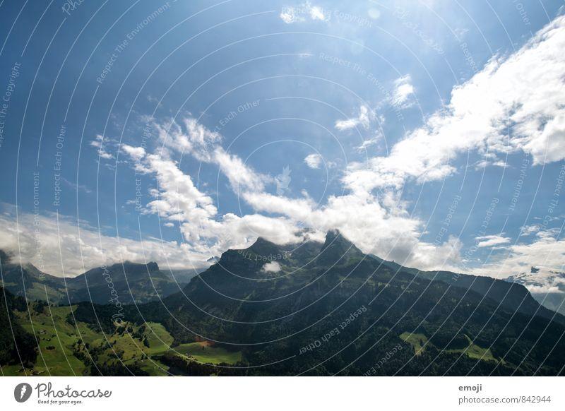 weit Umwelt Natur Landschaft Himmel Schönes Wetter Hügel Alpen Berge u. Gebirge natürlich blau Schweiz Farbfoto Außenaufnahme Menschenleer Tag