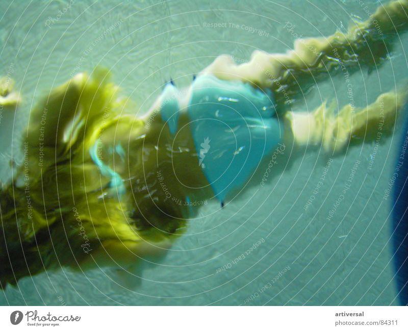 Unter Wasser 1 Mädchen schön Sommer Ferien & Urlaub & Reisen Sport Spielen Wärme Schwimmbad Freizeit & Hobby Physik tauchen Schwimmen & Baden türkis langhaarig