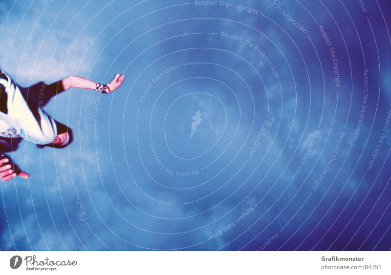 Rider in the Sky 01 Himmel springen unten Himmelskörper & Weltall Extremsport oben sky Ollie blue Himmelszelt Firmament