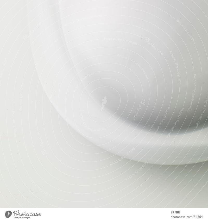 Rounded.... weiß Lampe Hintergrundbild Design rund Material Bildausschnitt Abdeckung Textfreiraum Farbverlauf Leuchtkörper Opal