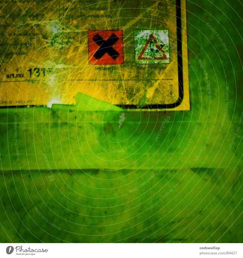 Dr. Jekyll grün Angst gut Industrie Wissenschaften Warnhinweis böse durcheinander Versuch Etikett Mord Symbole & Metaphern