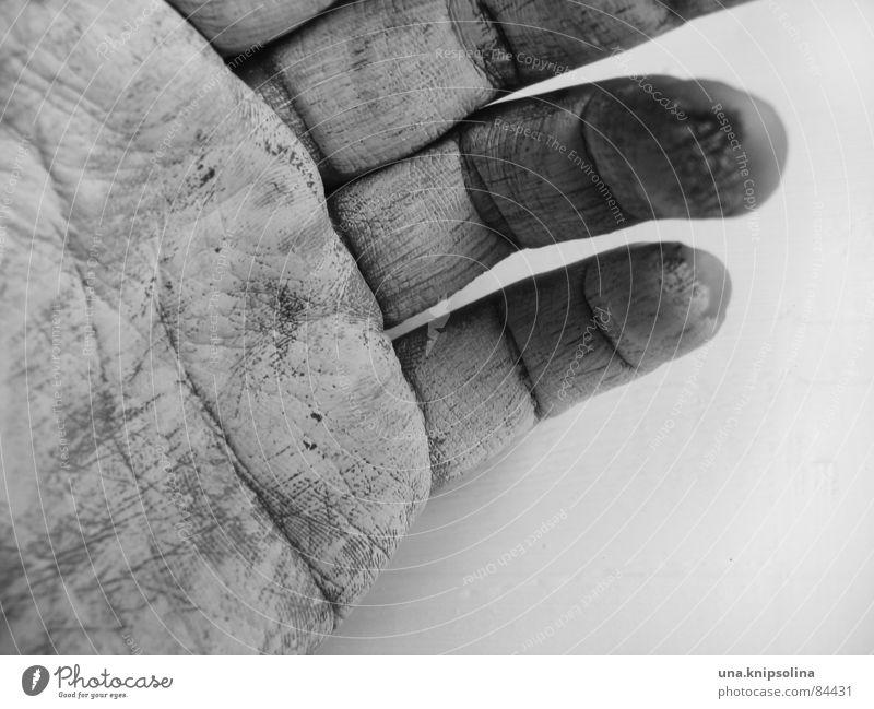 blanc Haut Handwerk Finger Linie berühren zeichnen streichen Farbe Handcreme Kunsthandwerker Hautkrankheit Farbgestaltung Hülle Maurerhandwerk handhaben