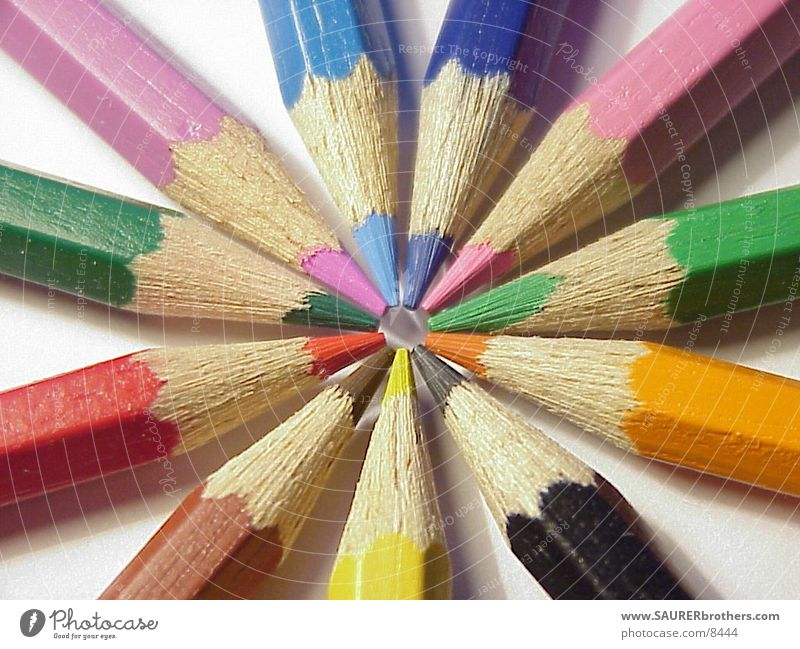 Farbstifte Farbe Kreis Spitze Dinge