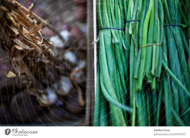 Schnitt.Knob.LAUCH Lebensmittel Schnittlauch Knoblauch Ernährung Bioprodukte Vegetarische Ernährung Slowfood frisch Gesundheit natürlich braun grün regional