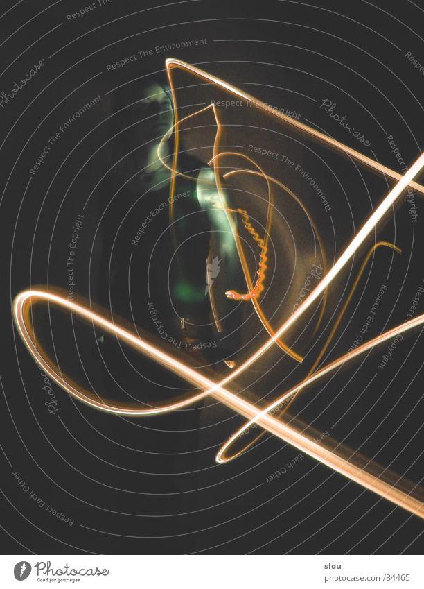 mit Licht gespielt 1 grün gelb Bewegung stehen Leuchtdiode Extremsport