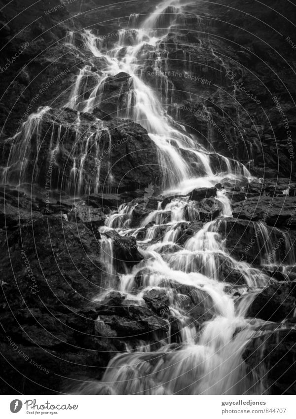 Wasserfall Umwelt Natur Landschaft Frühling Sommer Herbst Wetter Schönes Wetter schlechtes Wetter Alpen Berge u. Gebirge Bach Fluss Leben Reinlichkeit