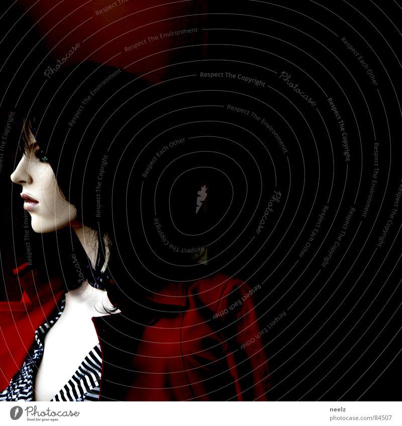 Groupie {n} (begeisterter Fan eines Rocksängers) = groupie Frau rot Gesicht Haare & Frisuren elegant Dame edel bleich Bluse Hautfarbe blutarm