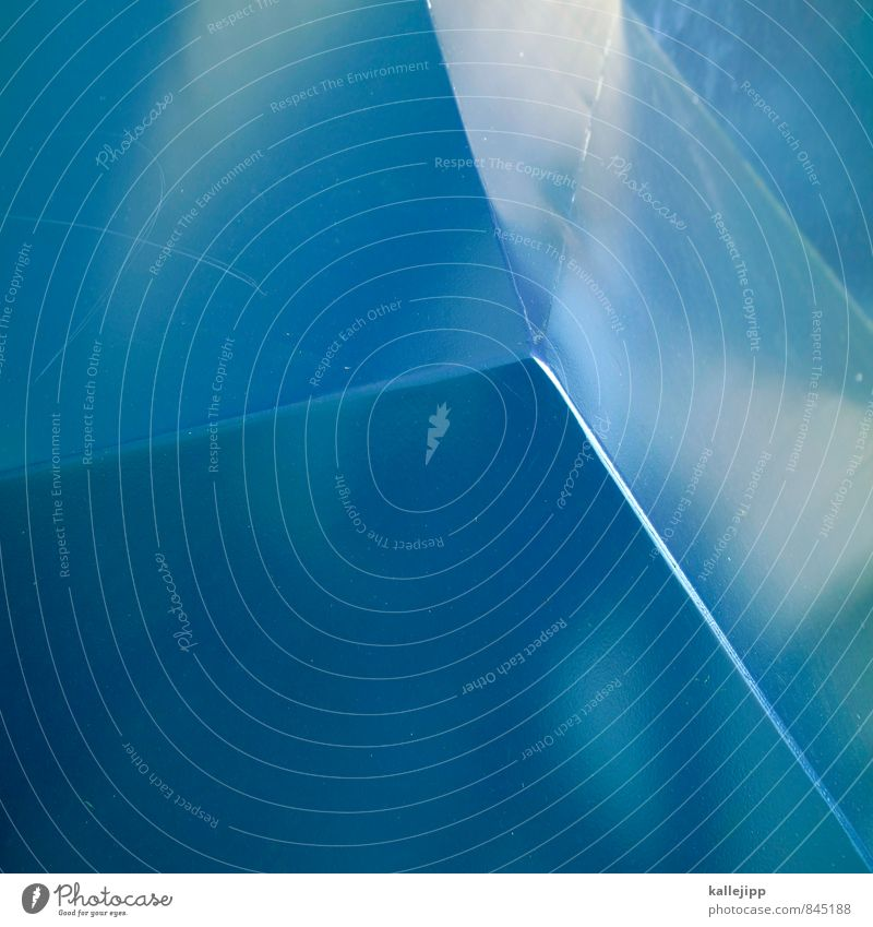 blau Linie Kunst Design Ecke Metallwaren eckig Geometrie Blech
