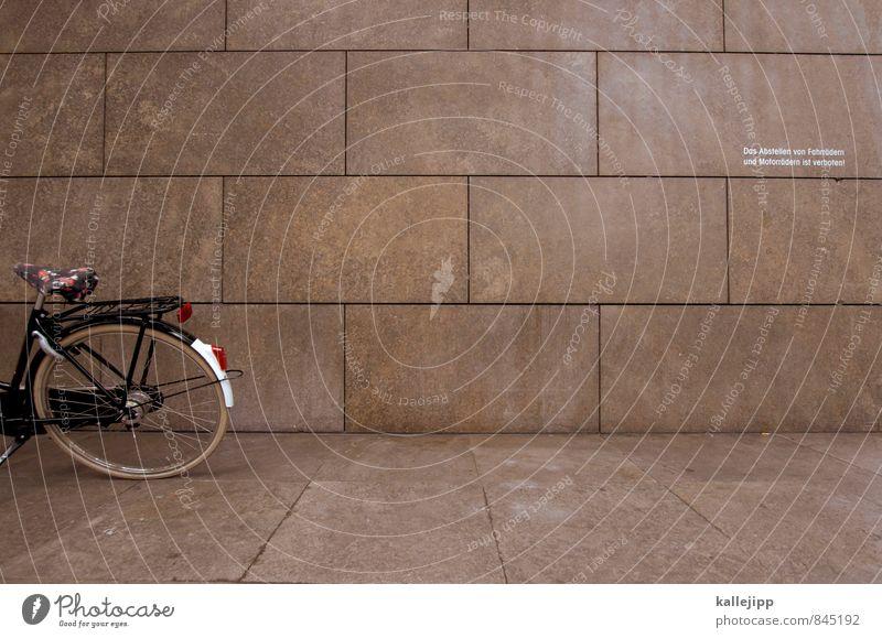 verbotene verbote Wand Mauer Stein Fassade Verkehr Fahrrad Sauberkeit Fahrradtour Gesetze und Verordnungen Verbote Toleranz Steinplatten Abstellplatz ignorieren