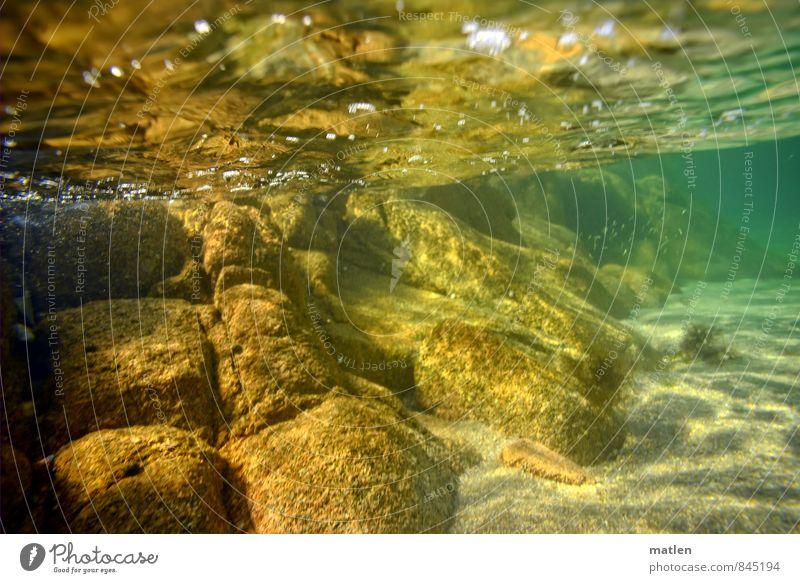 Atlantik Landschaft Sand Wasser Meer Menschenleer braun gelb grün Unterwasseraufnahme Stein Wasseroberfläche Reflexion & Spiegelung Felsen Klarheit Perspektive