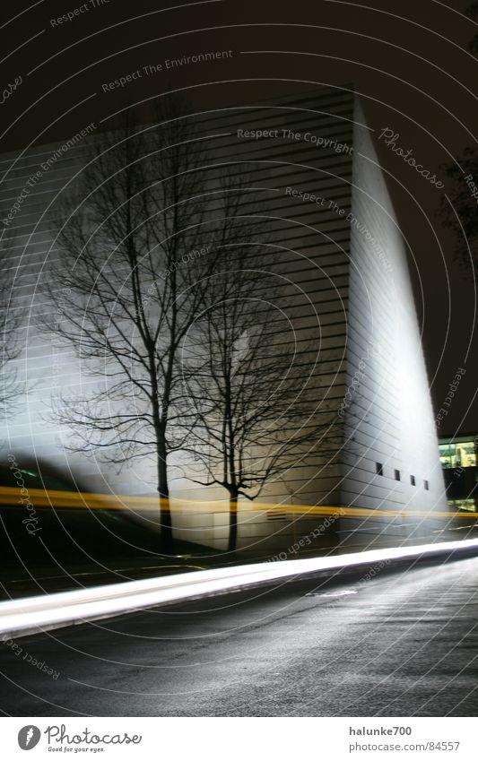 nachtgestalt Synagoge Dresden Nacht Lichtspiel Schneelandschaft Lichtgeschwindigkeit ruhig Architektur modern