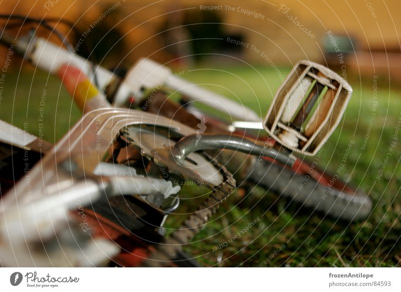 über nacht allein gelassen Fahrrad Kinderfahrrad Spielzeug Wiese Langzeitbelichtung München Pedal grün Gras Grünfläche Freizeit & Hobby Kinderzimmer rumliegen