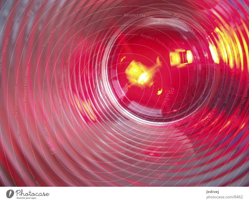 Leuchtendes Glass rot Lampe Fototechnik