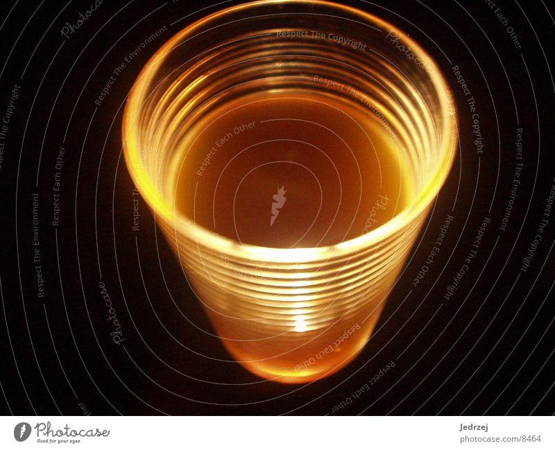 O-Saft leuchtend2 gelb Glas Saft Taschenlampe Fototechnik