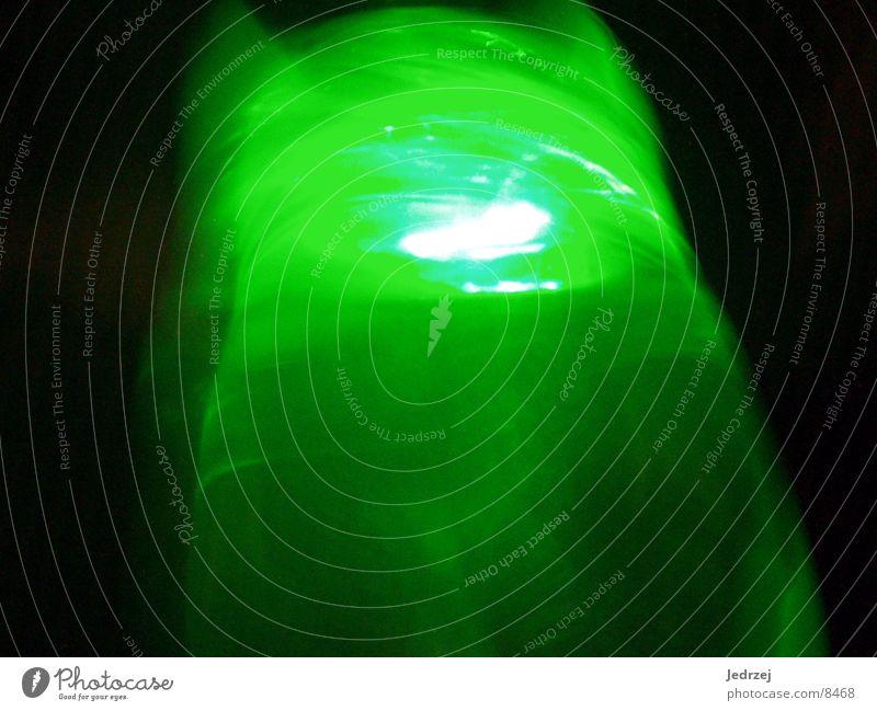 Flasche grün Lichtspiel Fototechnik Reaktionen u. Effekte