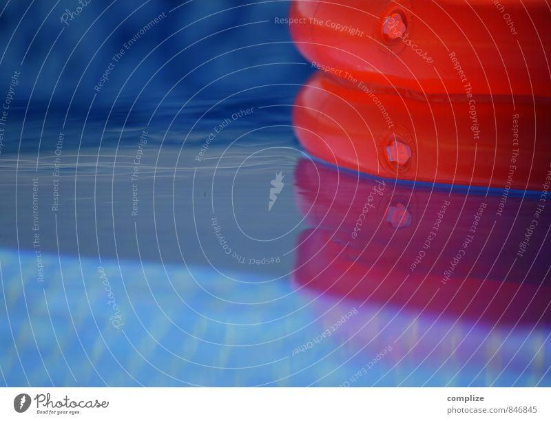 Das Ding blau Wasser Erholung rot ruhig Spielen Schwimmen & Baden Luft Freizeit & Hobby Lifestyle Schwimmbad Wellness harmonisch blasen Blase Whirlpool