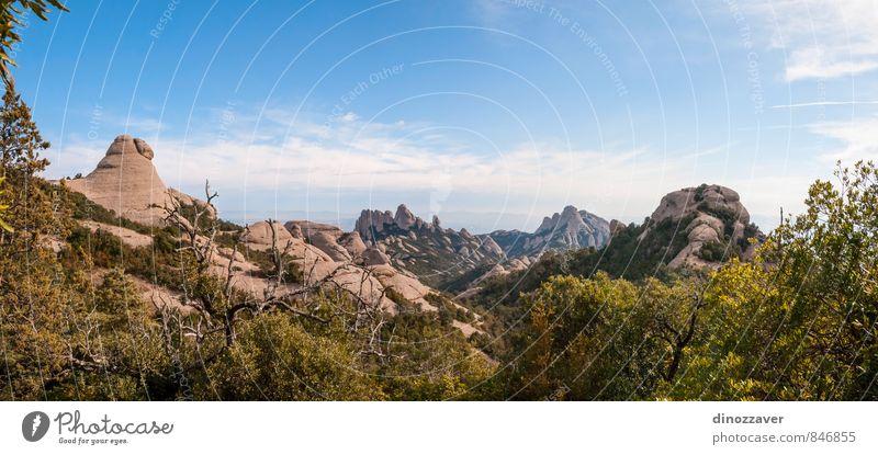 Himmel Natur Ferien & Urlaub & Reisen blau Sommer Landschaft Berge u. Gebirge Architektur Gebäude Stein Felsen Tourismus Aussicht Platz Europa Spanien