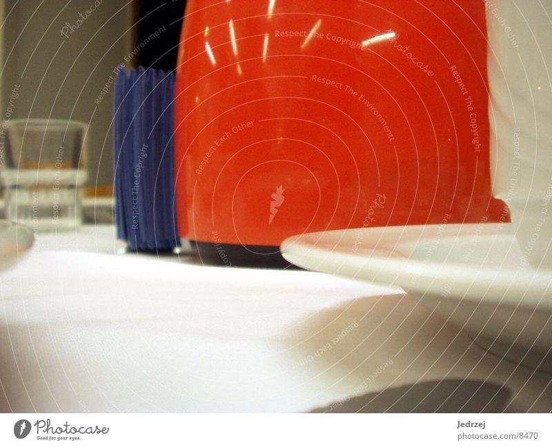 geschir Tasse Kannen rot weiß Küche glass Tischwäsche