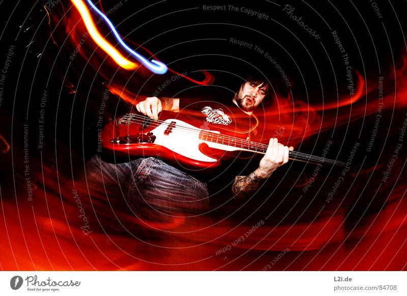 FOREVER FALLING III Konzert Show Musik live Screamo Hardcore Großbritannien Aktion Licht Fischauge Zombie Stil Gefühle Piercing laut concert Schnur Kontrabass
