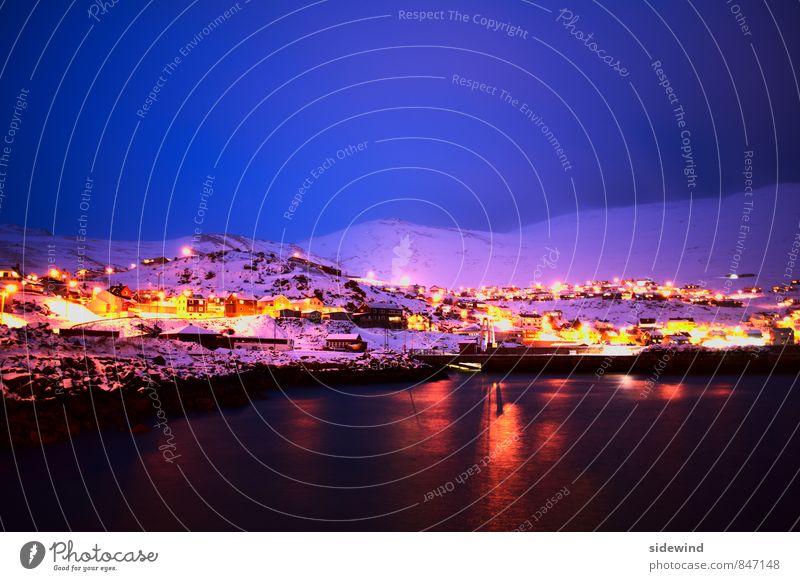 next stop North Pole Ferien & Urlaub & Reisen Tourismus Abenteuer Ferne Freiheit Expedition Winter Schnee Winterurlaub Nachthimmel Klima Eis Frost Nordlicht