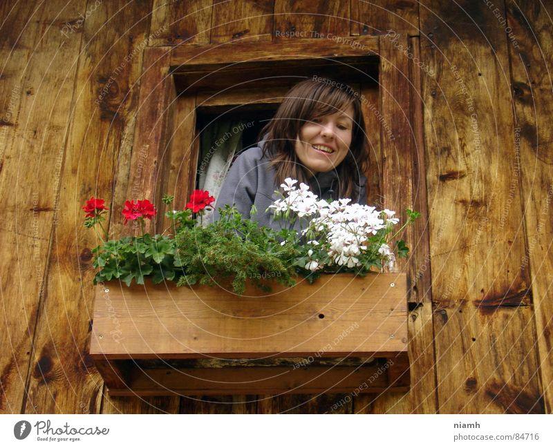 kommst du hoch Frau Freude Ferien & Urlaub & Reisen Haus oben Berge u. Gebirge Kommunizieren Lebensfreude Landwirt Hütte Österreich harmonisch Bauersfrau