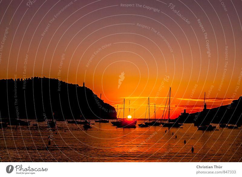 Sailing Time Ferien & Urlaub & Reisen Tourismus Ausflug Ferne Freiheit Sightseeing Kreuzfahrt Umwelt Wolkenloser Himmel Horizont Sonnenaufgang Sonnenuntergang
