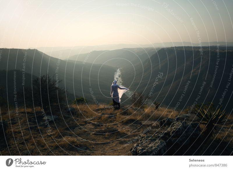 Hier will ich sein Ferien & Urlaub & Reisen Tourismus Ausflug Abenteuer Ferne Freiheit Sommer Sonne Mensch 1 Umwelt Natur Landschaft Wolkenloser Himmel Horizont