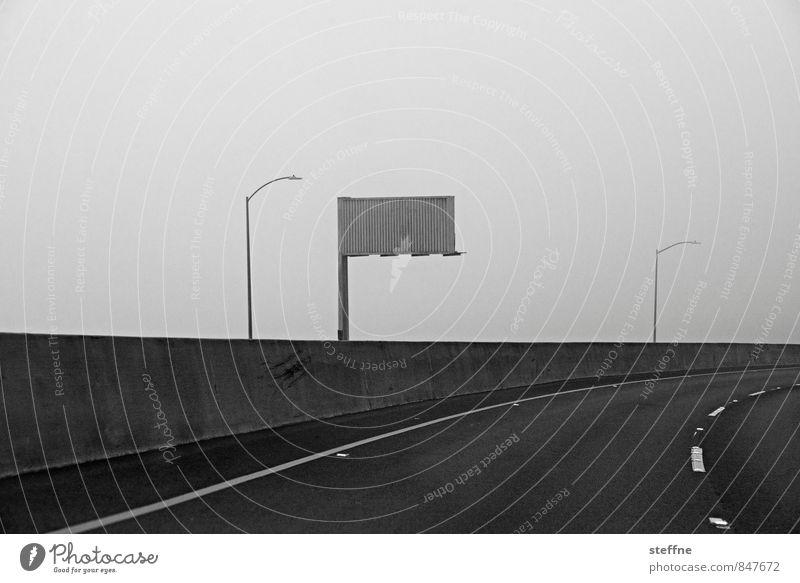 Nebelwand Natur Straße außergewöhnlich Autofahren Straßenverkehr unheimlich San Francisco