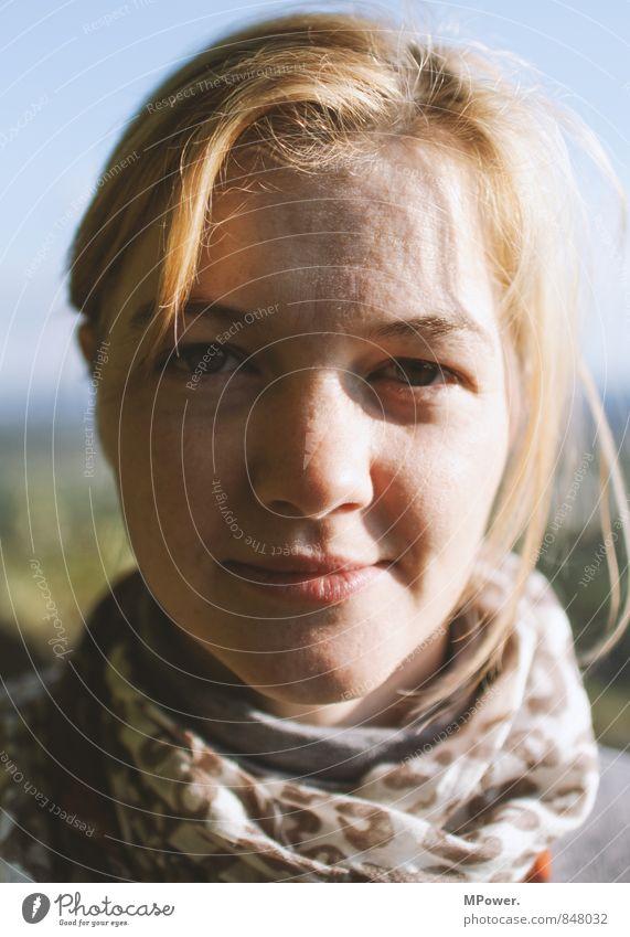 direkt Mensch Frau Jugendliche Junge Frau 18-30 Jahre Erwachsene natürlich lustig feminin Gesundheit Kopf frisch blond Fröhlichkeit fantastisch Coolness