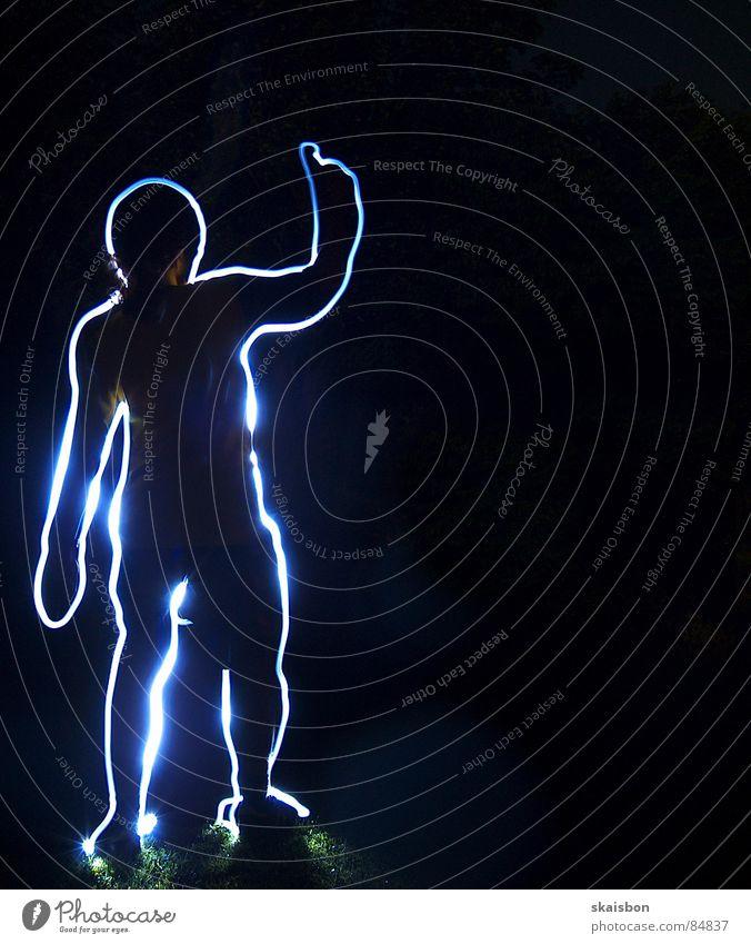 hurry up and wait Freude Körper Mensch Finger Linie Streifen stehen dunkel Langeweile Leuchtspur wahrnehmen umrandet Anatomie Fotografie melden outline