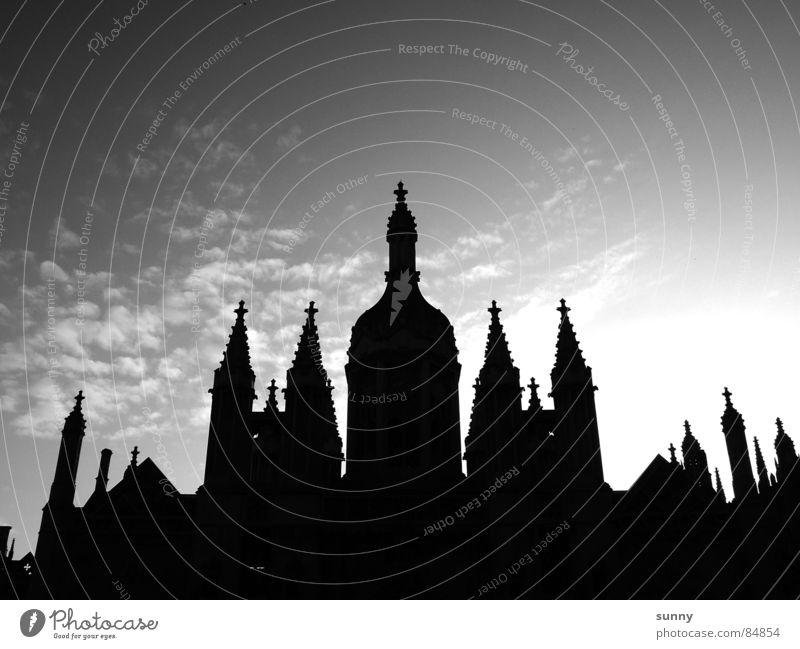 kings Himmel schwarz Architektur Rücken Turm historisch Abenddämmerung Symmetrie Flughafen