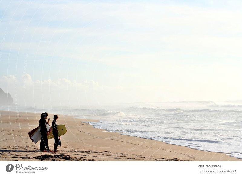 Die auf den perfekten Moment-Warterei Jugendliche Wasser Meer Wellen 3 Spuren Schwimmen & Baden beige Portugal Wassersport Neopren Badestelle Triumvirat