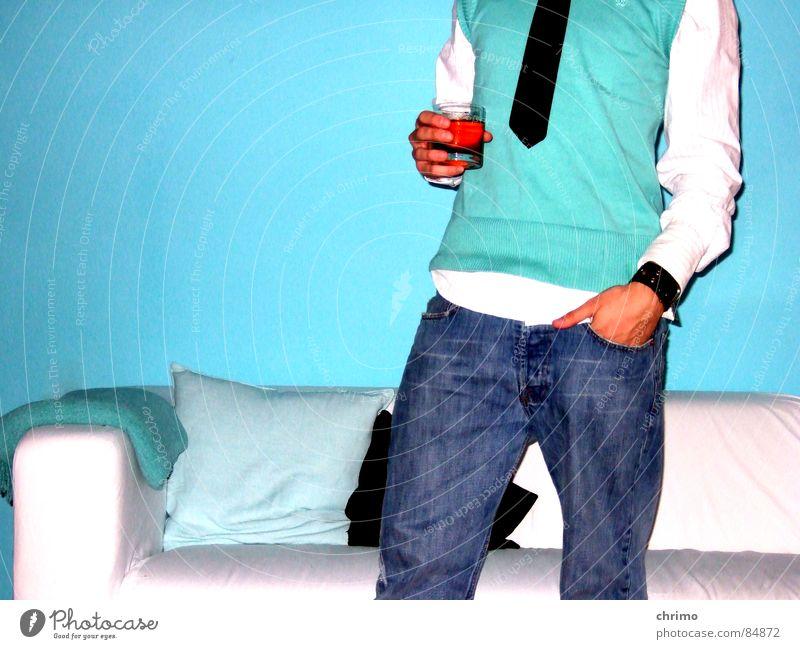 Old No.7 Whiskey Sofa Erholung Krawatte Getränk türkis zyan blau-grün Stil Club Foyer pullunder binder chaiselongue trinken