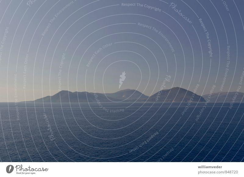 Griechische Insel in blau Wellness harmonisch Wohlgefühl Sinnesorgane Erholung ruhig Meditation Sommer Sommerurlaub Sonne Meer Himmel Schönes Wetter